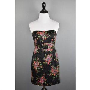 Free People Floral Poison Apple Strapless Dress